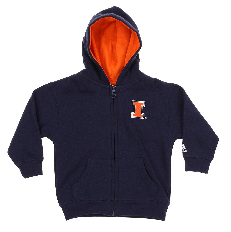 NCAA Infants Illinois Fighting Illini Full Zip Sweatshirt Hoodie, Navy