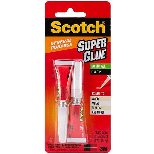 Scotch Super Glue Gel, 2pk, .07 oz