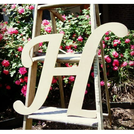 Unfinished DIY Letter Decor, 12'' Monotype H,  Wooden Alphabet Letter](Unfinished Wooden Anchor)