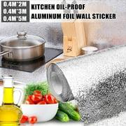 Waterproof Oil-Proof Kitchen Wall Sticker, Self Adhesive Kitchen Backsplash Wallpaper Stove Wall Stickers, 15.7x78.7/15.7x118/15.7x196.8 inches