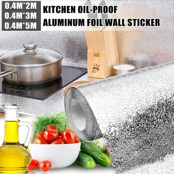 Waterproof Oil Proof Kitchen Wall Sticker Self Adhesive Kitchen Backsplash Wallpaper Stove Wall Stickers 15 7x78 7 15 7x118 15 7x196 8 Inches Walmart Com Walmart Com