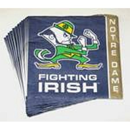 Notre Dame Fighting Irish Beverage Napkins (Irish Napkins)