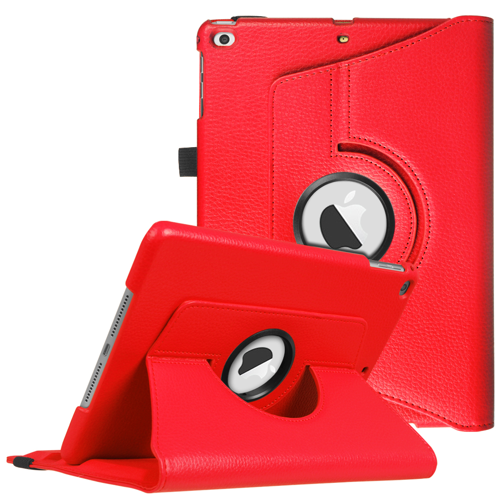 Fintie iPad 6th / 5th Gen, iPad Air /Air 2 Multiple Angles Stand Case Cover with Auto Sleep Wake, Red