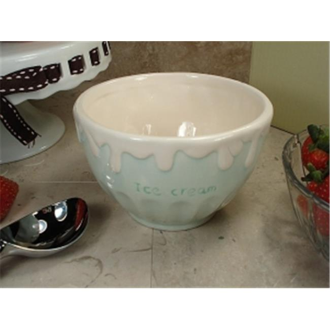 DLusso Designs CC785-G Ceramic Ice CReam Bowl Green, Pack Of - 4.
