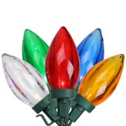 Brite Star 100ct C9 LED Transparent String Lights Multi-Color - 33' Green Wire