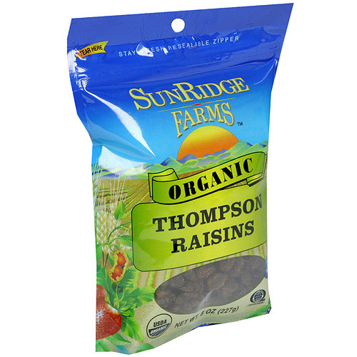 SunRidge Farms Organic Thompson Raisins, 8 oz  (Pack of 12)