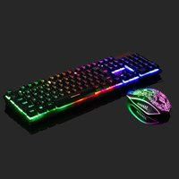 Rainbow Gaming Keyboard and Mouse Set For PS4/PS3/Xbox One LED Multi-Colored Changing Backlight Mouse