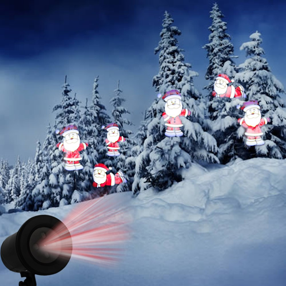 Kshioe Led Automatic Conversion Santa Claus Led Christmas Decoration Outdoor Landscape Lawn Lamp Us Security & Protection