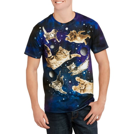 8ba09a2dd Humor - Cats in Space Men's Graphic Tee - Walmart.com