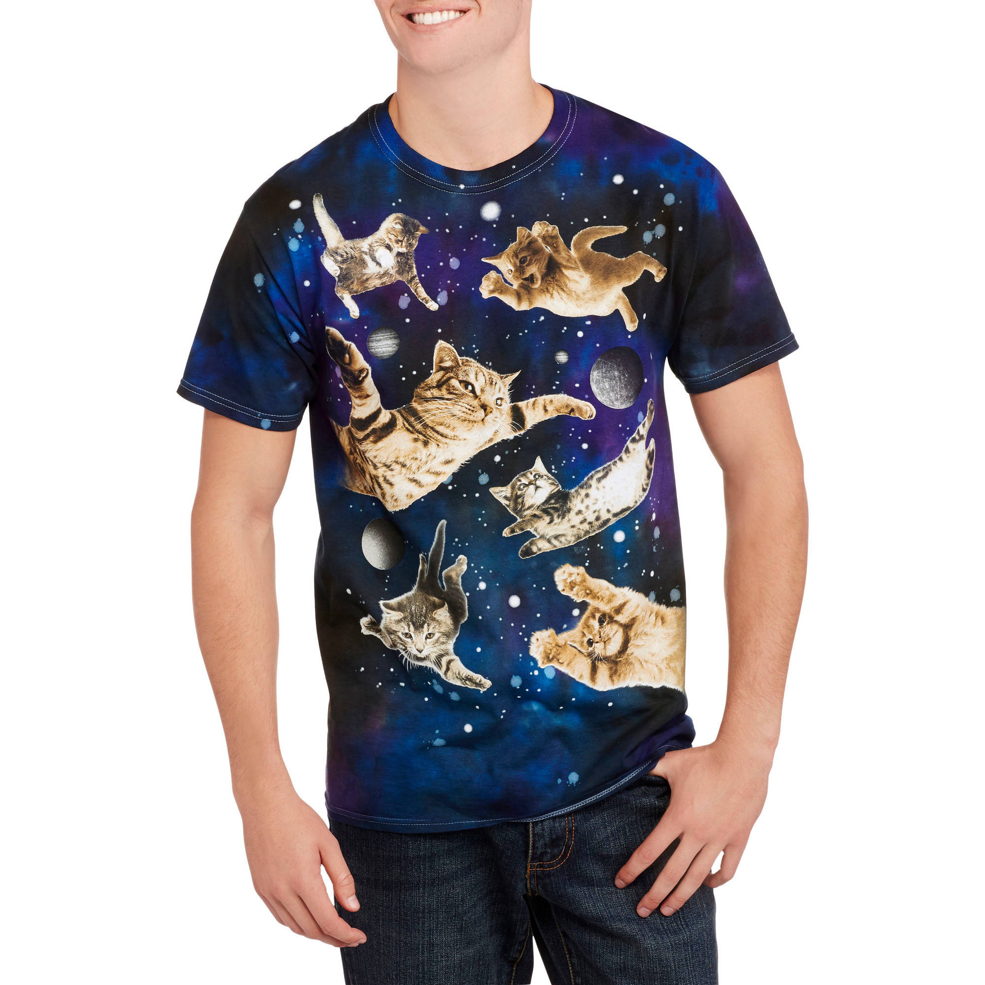 Cats in Space Men's Graphic Tee