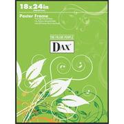 DAX Coloredge Poster Frame, Clear Plastic Window, 18 x 24, Black