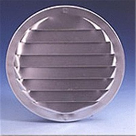 Stamped Aluminum 4 Louver (R lb-1004 4 in. Round Aluminum Screen Louver, Brown)