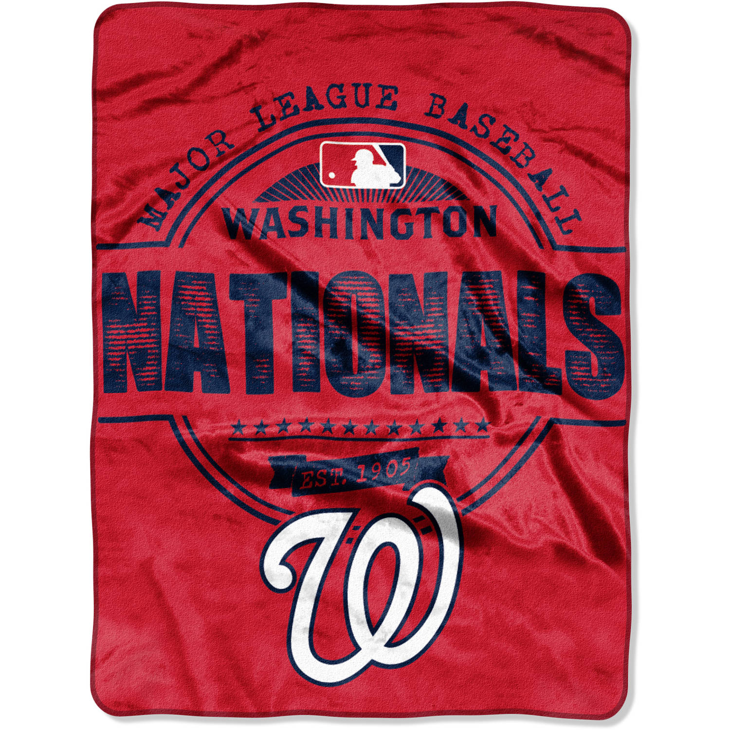 "MLB Washington Nationals ""Structure"" 46"" x 60"" Micro Raschel Throw"