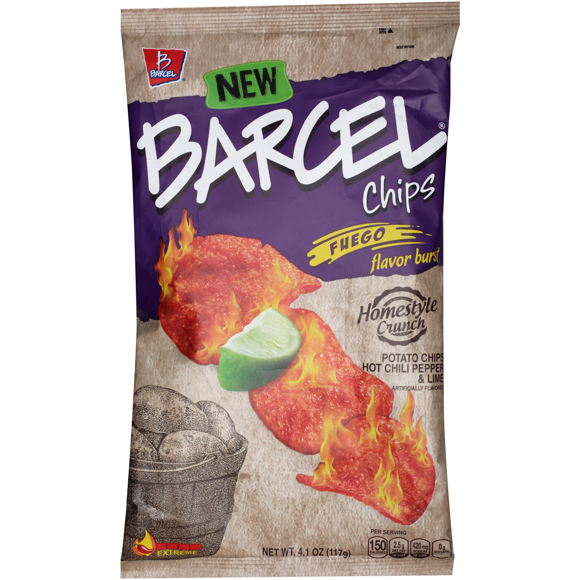 Barcel Fuego Flavor Burst Potato Chips, 4.1 oz by Barcel