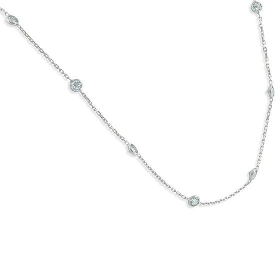 ea5de02dff9a5 1 1/2 Ctw Diamond By The Yard Tennis Necklace 14K White Gold 18