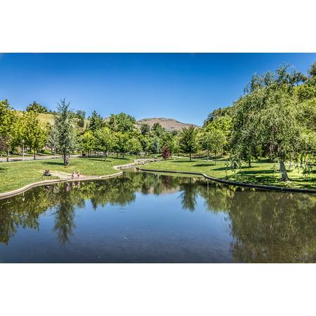 LAMINATED POSTER Lake City Salt Lake Park Utah Grove Park Memory Poster Print 24 x