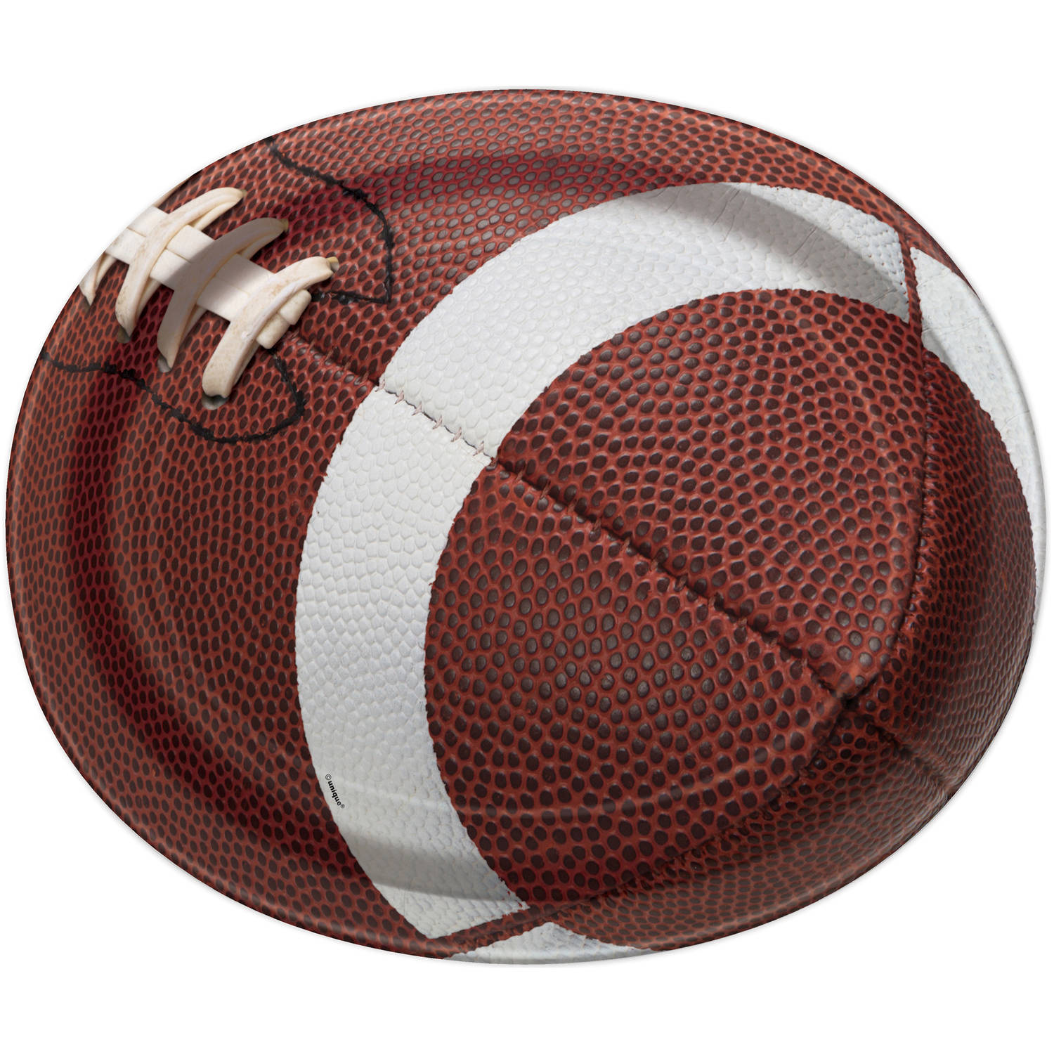 "12"" Football Oval Paper Platters, 8ct"