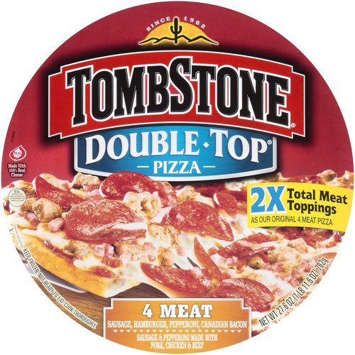 Tombstone Double Top 4 Meat Pizza, 27.6 oz