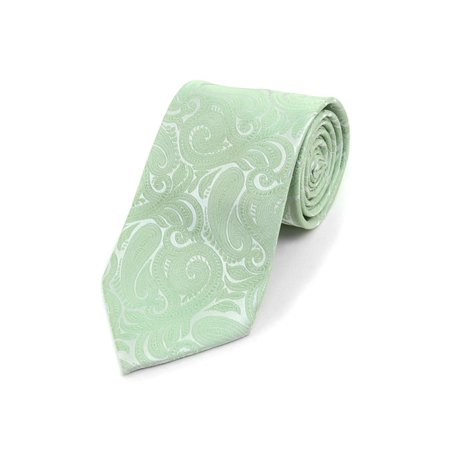 Men's Paisley 100% Microfiber Poly Woven Wedding Neck Tie](Green Machines For Adults)