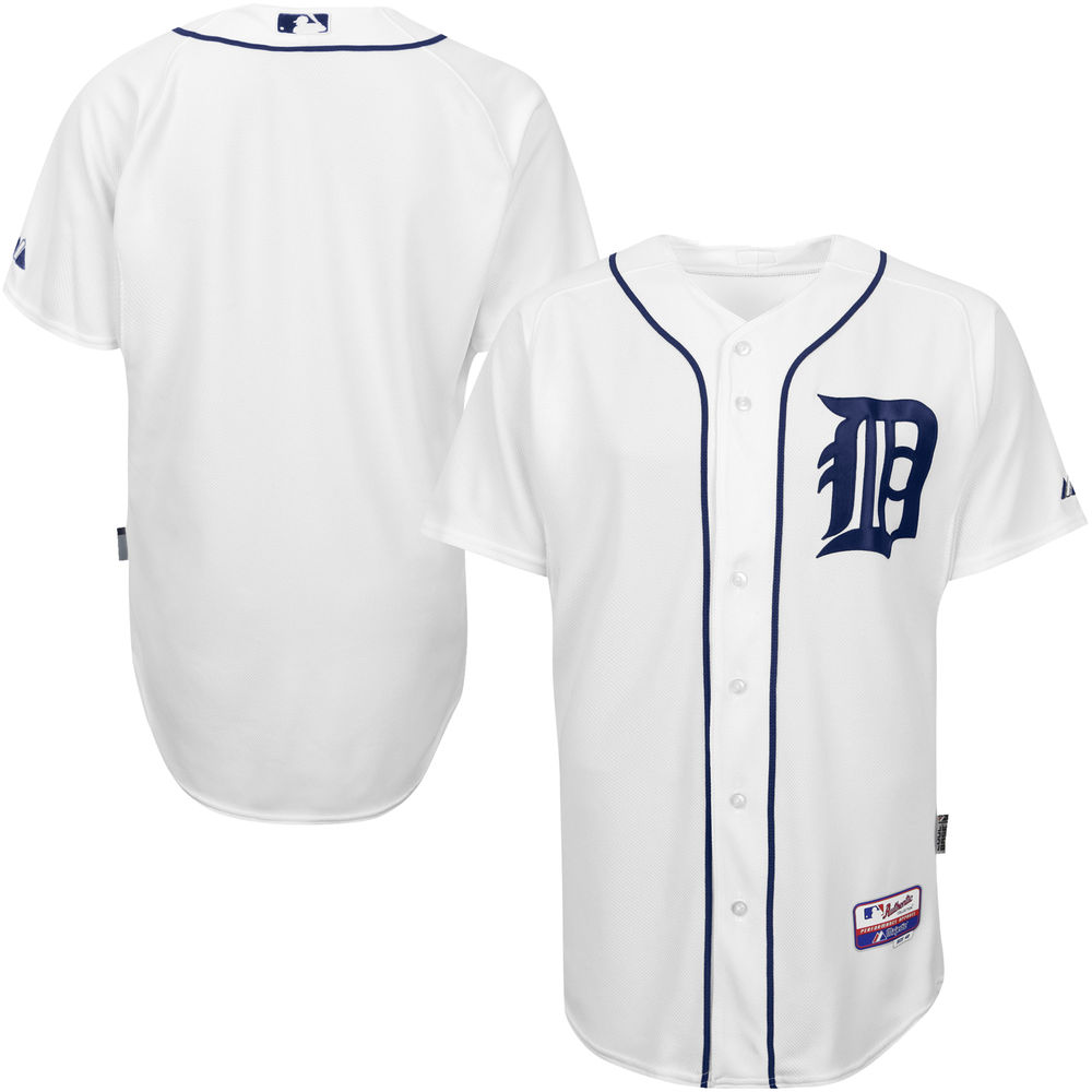 Men's Detroit Tigers White Authentic Player Cool Base Jersey by