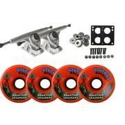 Randal 180 RAW LONGBOARD TRUCKS BIGFOOT 76mm 83a CRUSHER Wheels ORANGE +BEARINGS
