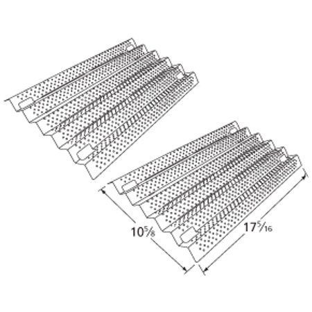 Costco Kirkland Grill Heat Plate Stainless Steel Shield 91931, 2 - Heat Dish Costco