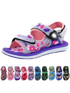 GP Kids Classic SNAP LOCK Sandal: 9203B Purple Glitter, EU26 (Size: Toddler 8.5 - 9)