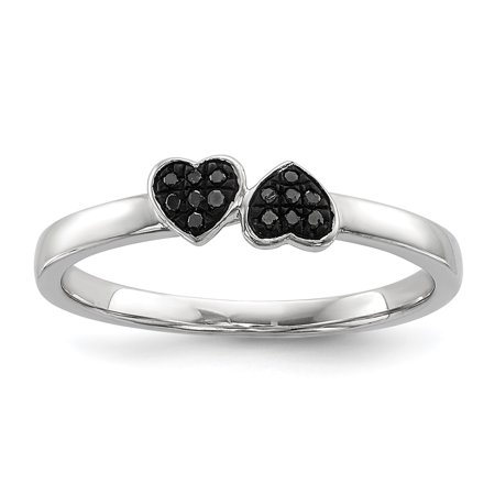 roy rose jewelry sterling silver black diamond stackable. Black Bedroom Furniture Sets. Home Design Ideas