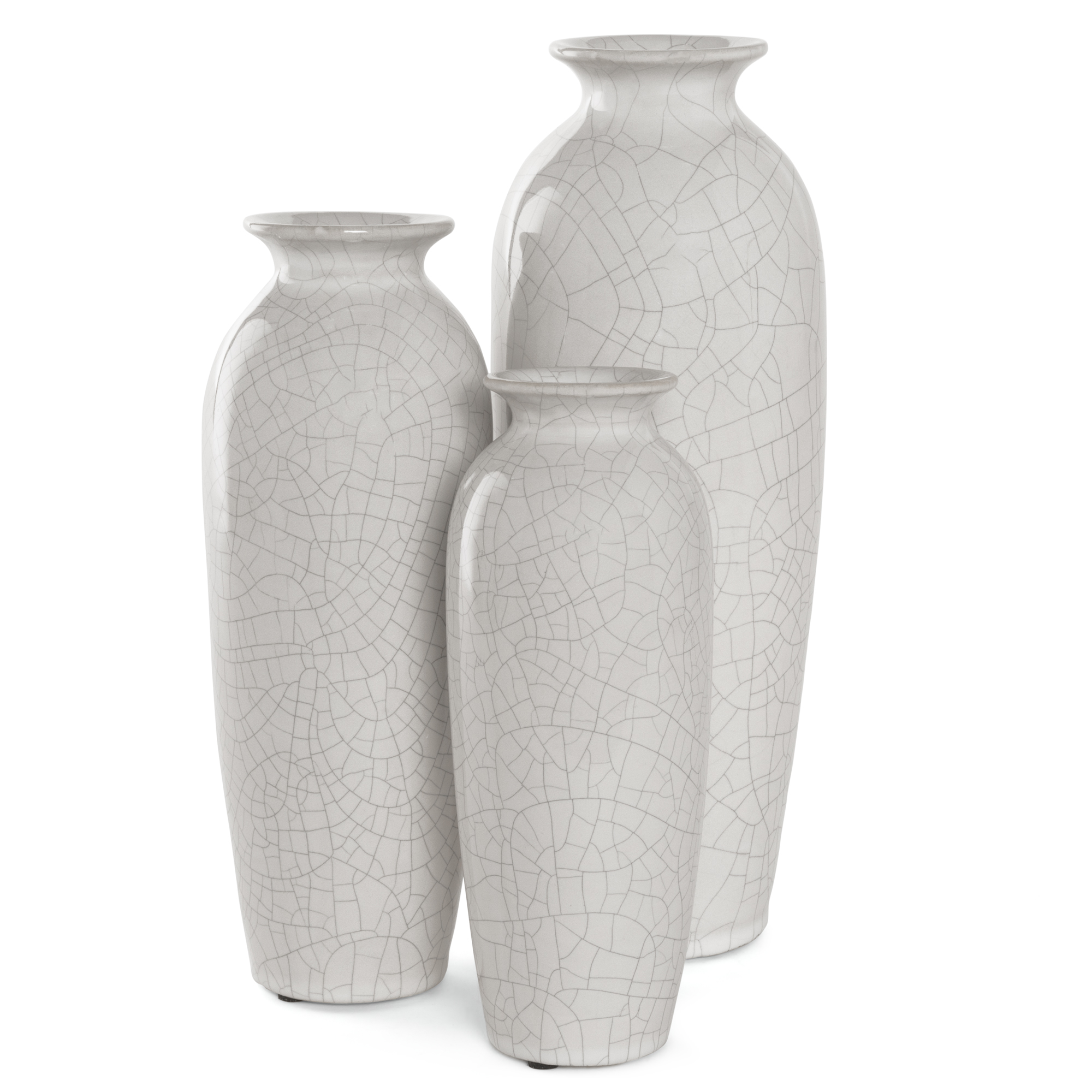 Best Choice Products Set Of 3 Decorative Modern Ceramic Table Vases Home  Accents For Flowers, Dining, Side Tables W/ Assorted Sizes   White    Walmart.com