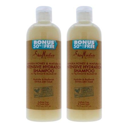 Manuka Honey and Mafura Oil Intensive Hydration Shampoo by Shea Moisture for Unisex - 10.3 oz Shampo - Pack of