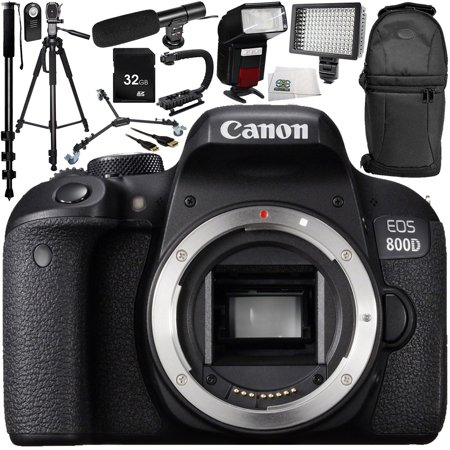 Canon EOS 800D DSLR Camera (Body Only) 13PC Accessory Bundle – Includes  32GB SD Memory Card + Universal Wireless Shutter Release Remote + MORE