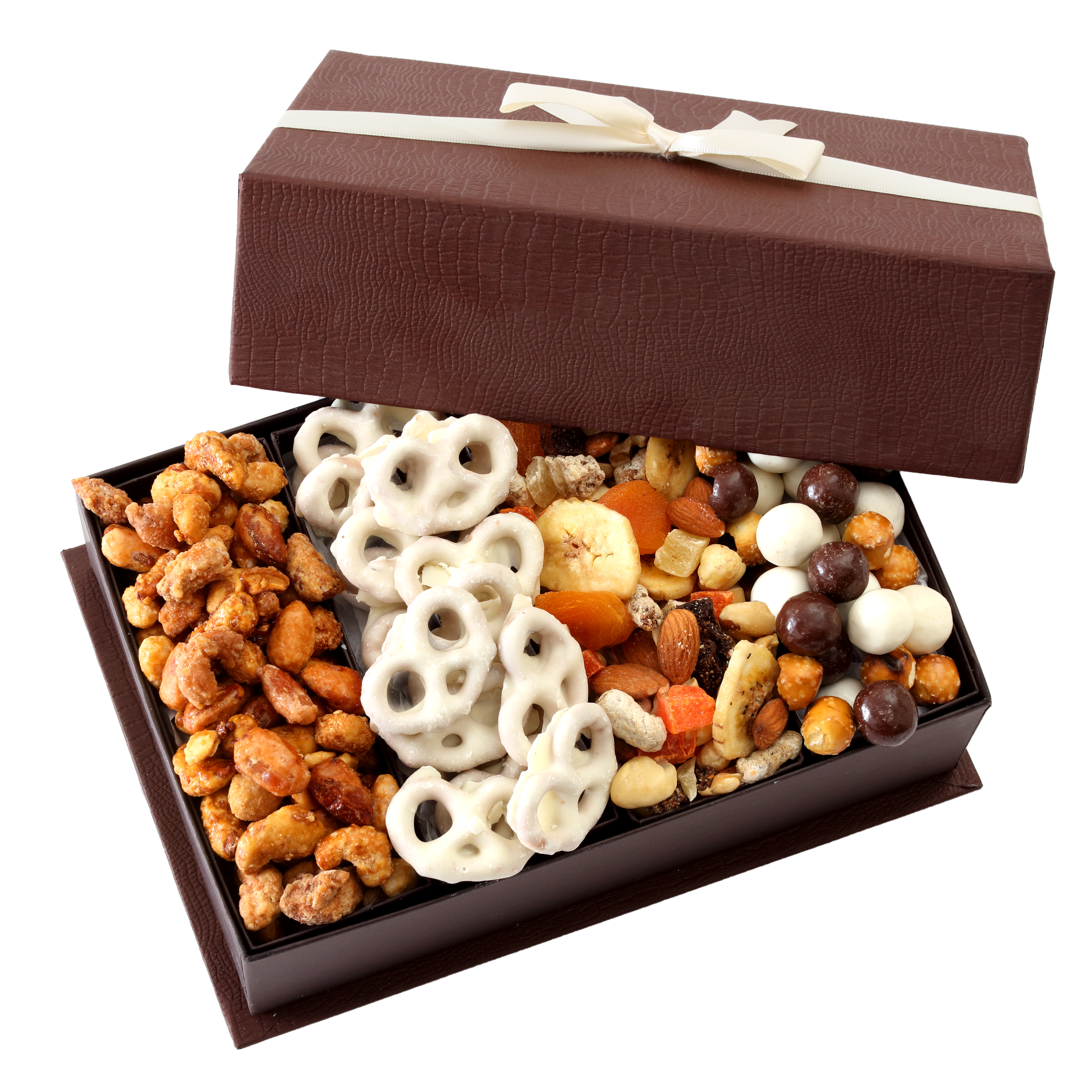 Broadway Basketeers Touch of Class Gourmet Fruit and Nut Gift Basket