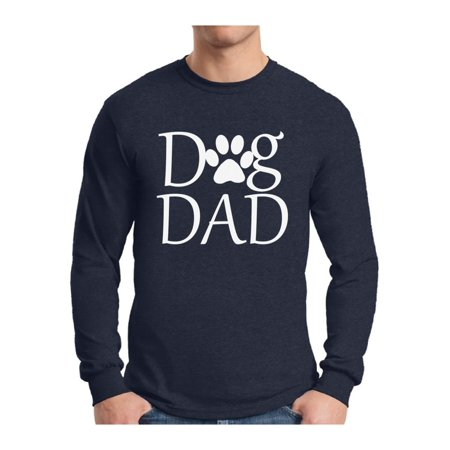 Awkward Styles Men's Dog Dad Graphic Long Sleeve T-shirt Tops Pet Loving Father`s Day Gift Dog Lover Gift for Him