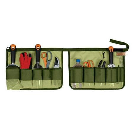 Wedlies Durable Garden Tools Set Hand Tote Garden Bucket Caddy 64 Gallon Yard Tool Carrier Holder Organizer Bags Pouch