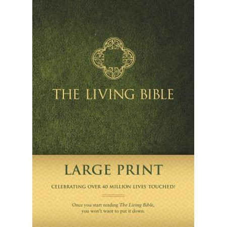The Living Bible Large Print Edition (Hardcover,