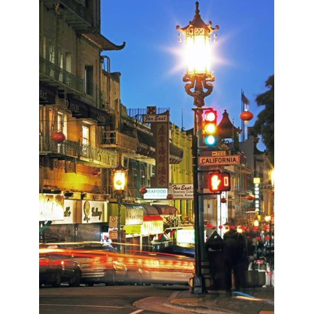 Glowing Lanterns Hanging over Grant Avenue in Chinatown, San Francisco, California, United States o Print Wall Art By Gavin Hellier