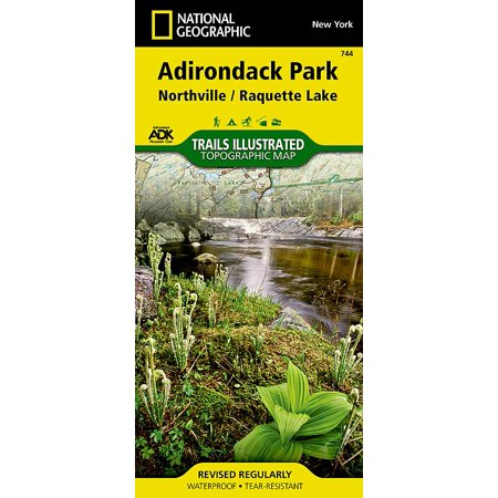 National geographic maps: trails illustrated: northville, raquette lake: adirondack park - folded ma: 9781566953108 Adirondack High Peaks Map