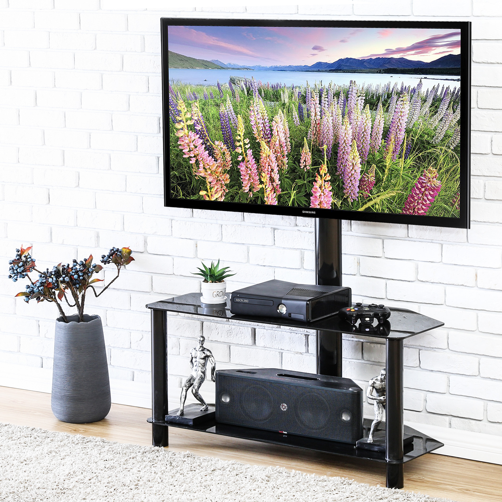 "FITUEYES Tv Stand with Swivel Mount Entertainment Center for 32""-50"" Flat Curved TV TW209002MBF"