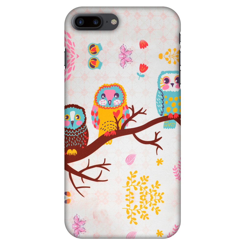 iPhone 7 Plus Designer Case, Premium Handcrafted Printed Designer Hard ShockProof Case Back Cover for iPhone 7 Plus - Owls On Branch, 5.5 Inch iPhone 7, HD Color, Soft Finish