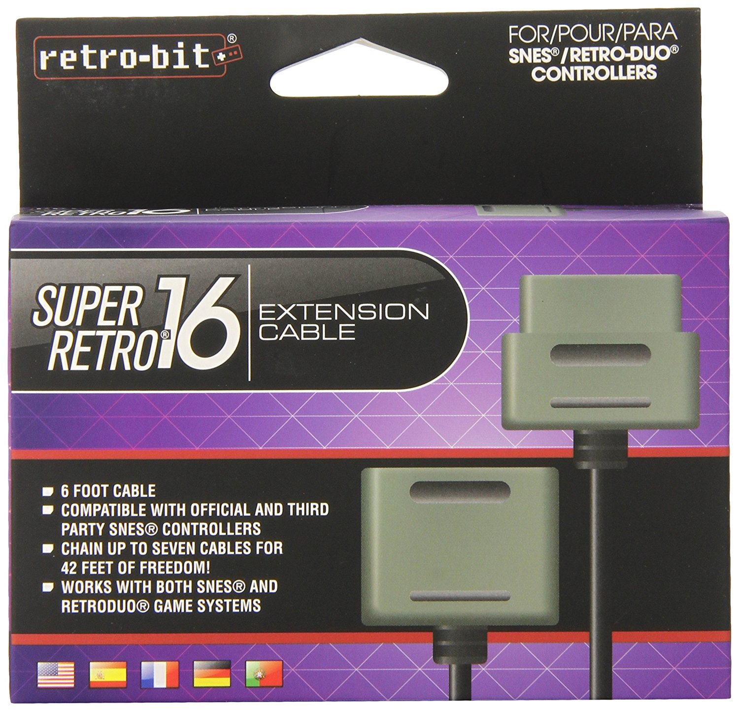 Retro-Bit SNES 6-Feet Extension Cable