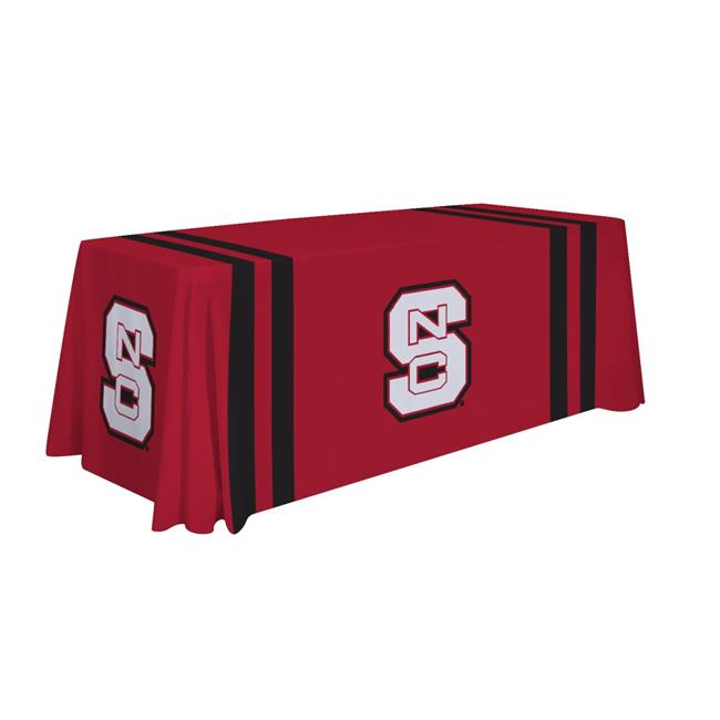 Victory Corps 810026NCST-002 6 ft. NCAA North Carolina State Wolfpack Dye Sublimated Table Throw - No.002