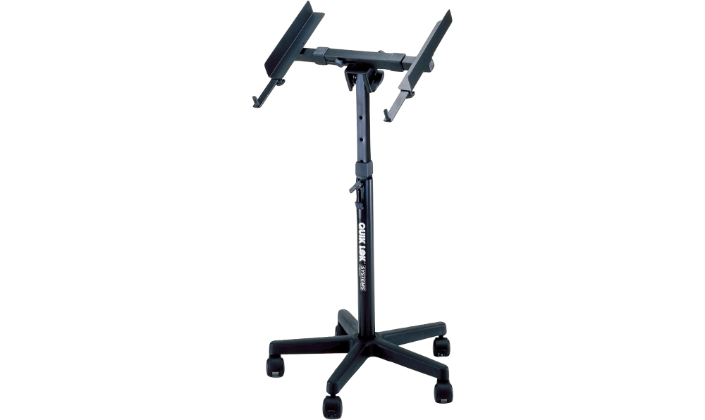 Quik-Lok QL-400 Fully Adjustable Mixer Stand with Casters by Quik-Lok