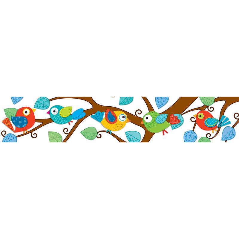 (6 Pk) Boho Birds Border
