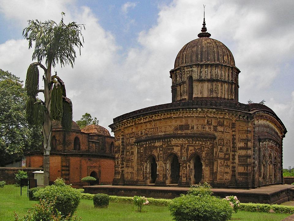 Laminated Poster Asia India Temple West Bengal Bishnupur Bengal Poster 24x16 Adhesive Decal by