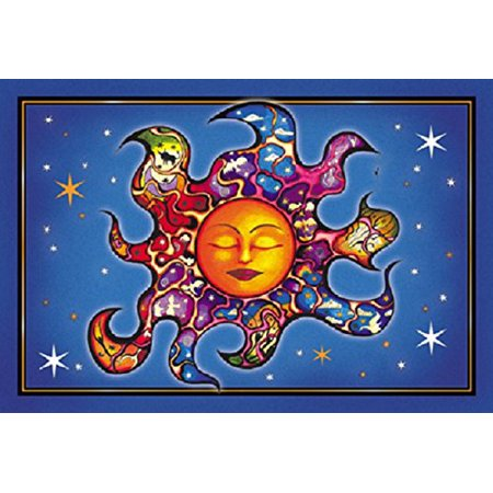 Sleeping Sun - Dan Morris, Set of 2 Mailable POSTCARD for Travel Invitations Welcome Holiday Thank you Cards - 6