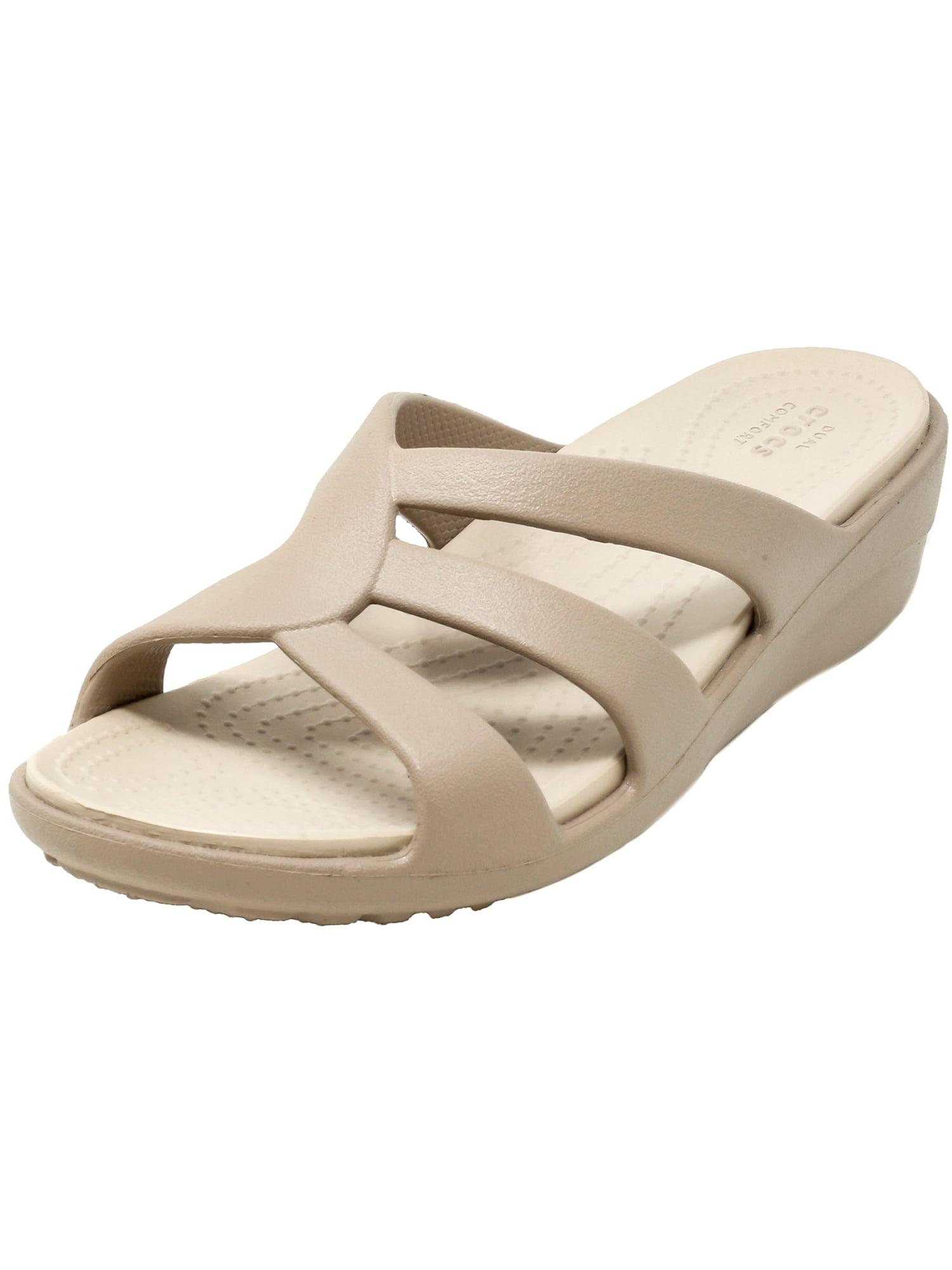 035e18b32943 Crocs womens sanrah strappy wedge mushroom cobblestone jpg 1500x2000 Crocs  sanrah