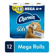 Charmin Ultra Soft Toilet Paper, 12 Mega Rolls