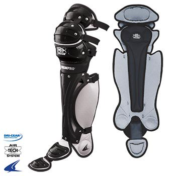 Baseball Catchers Leg Guards (Pro Plus Airtech Catcher Leg Guards- 14.5''L,)