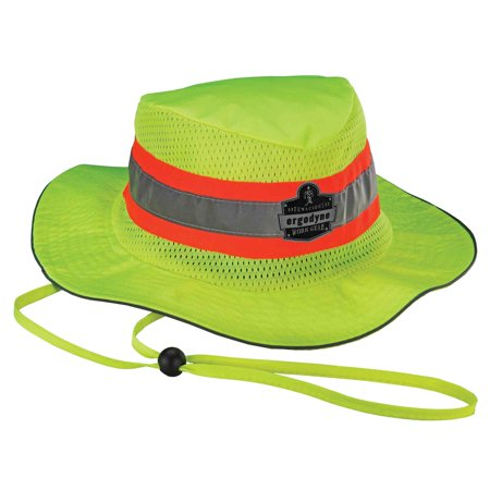 Ergodyne Chill-Its 8935CT Evaporative Cooling Ranger Hat Hi Vis Lime, Small/Medium