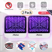 [2 Pack]- 2020 Electric Mosquito Killer Lamp Indoor Insect Bug Zapper Mosquito Catcher UV LED Light Fly Trap Pest Control No Radiation Non-Toxic Noiseless Child Pet Safe - Office Home Bedroom Camping